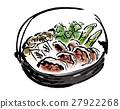 刷寫 鍋裡煮好的食物 燉湯 27922268