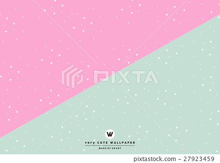Classic Pink And Green Cute Two Tone Wallpaper