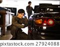 차고 정비공 정비사 유지 보수 점검 차량 정비소 주차장 27924088