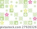 벡터, 벚나무, 일본풍 무늬 27926326
