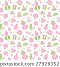 Seamless pattern background material of doll festival 27926352