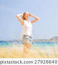 Free Happy Woman Enjoying Sun on Vacations. 27926640