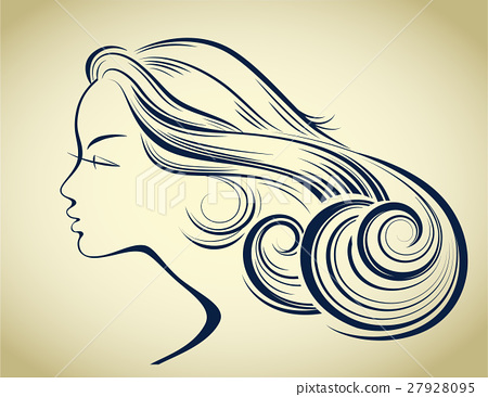Woman Hair Style Silhouette Female Profile Stock Illustration 27928095 Pixta