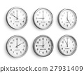 Timezone clocks showing different time 27931409