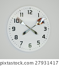 Fork and spoon clock on the wall 27931417