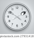 Fork and spoon clock on the wall 27931418