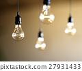Shalow focus light bulbs hanging 27931433