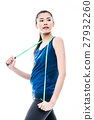 Fit young Asian woman with a skipping rope 27932260