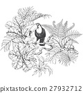 vector leaf Toucan 27932712