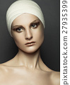 Beauty girl bandage plastic surgery make up face 27935399