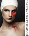 Beauty girl bandage plastic surgery red make up 27935401