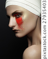 Beauty girl bandage plastic surgery red make up 27935403