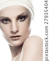 Beauty girl bandage plastic surgery make up face 27935404