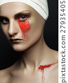Beauty girl bandage plastic surgery red make up 27935405