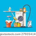 Laundry room with washing machine 27935414