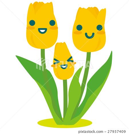 鬱金香 黃色 黃 27937409