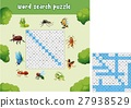 Word search puzzle about bugs animals 27938529