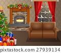 Fireplace and Christmas tree  27939134
