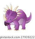 Cartoon styracosaurus 27939222