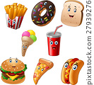 Fast food cartoon collection set 27939276