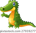 Cartoon crocodile presenting 27939277