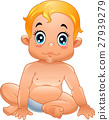 Cartoon cute baby isolated on white background 27939279