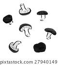 표고 버섯 수묵화 27940149