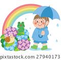 梅雨 雨 少女 27940173