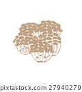 蔬菜 插图 蘑菇 27940279