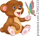 bear, vector, butterfly 27942123