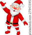 Happy Santa cartoon waving hand 27943345