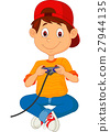 Child plays games on the joystick 27944135