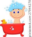 孩子 洗澡 浴室 27944270