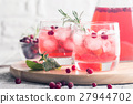 Refreshing drink with cranberries 27944702