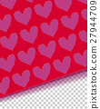 Hearts knitted textile 27944709