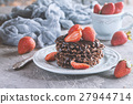Waffle dessert with chocolate 27944714