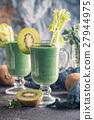 Healthy fresh kiwi smoothie 27944975