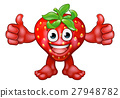 Strawberry Fruit Cartoon Character Mascot 27948782
