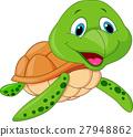 Cute sea turtle cartoon 27948862
