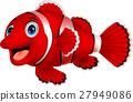 Cute clown fish cartoon 27949086