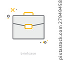 Thin line icons, Briefcase 27949458