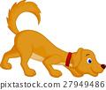 Cute dog cartoon sniffing 27949486