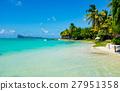 amazing white beaches of Mauritius island 27951358