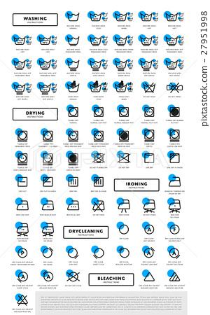 Laundry washing symbols icon set 27951998