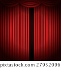 Stage curtains with spot light vector illustration 27952096