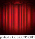 Stage curtains with spot light vector illustration 27952103