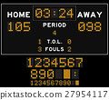 Basketball score board with orange square led 27954117