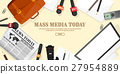 Mass media background in a flat style.Press 27954889
