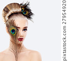 Glamorous Blonde Woman with Perfect Hairstyle 27954920