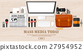 Mass media background in a flat style.Press 27954952
